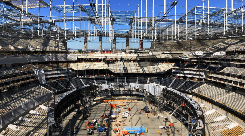how stadiums are built